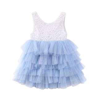 🚚 ⭐️Instock⭐️ Blue Layer Tulle Dress