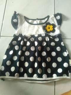 Dress navy polka kids