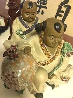 石湾陶艺名家和合二仙