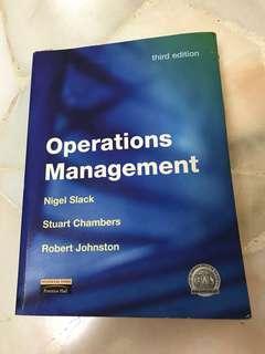 Operations Management: Third Edition by Nigel Slack, Stuart Chambers and Robert Johnson