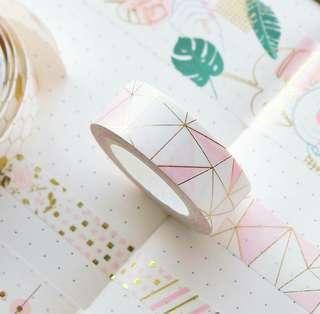 [PO] pink bronzing washi tape