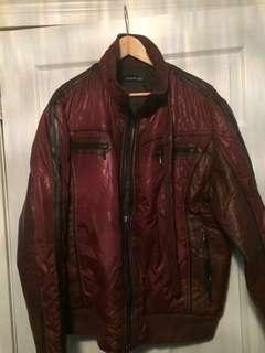 Men's burgundy jacket