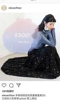 Korea Dress one piece 韓國 星空 厚雪紡 半裙