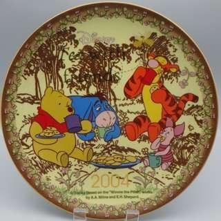 """2004 Winne the pooh 陶瓷碟 7.5"""""""