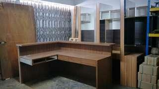 Salon furniture - Mirrors and counter table