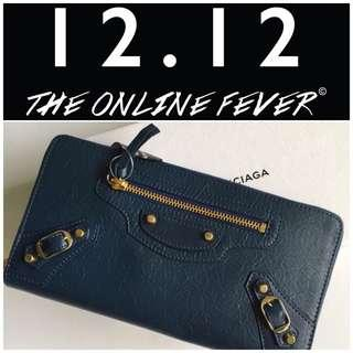#MY1212 New! Authentic Balenciaga Zip Around wallet