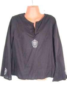 Mossimo brown LS blouse