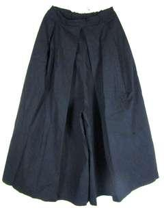Black long culottes