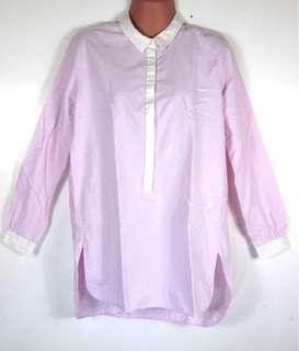 Zara light pink long sleeve top office casual