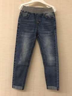 🚚 韓版小男孩牛仔褲 Size 110 cm.