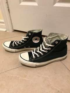 All star converse high tops in black sz. 8