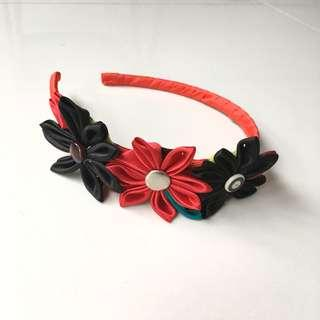 Red flower headband #MY1212