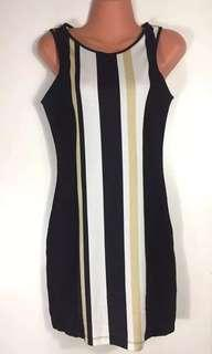AB studio vertical stripe cotton dress used once