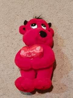I love you devil stuffed toy