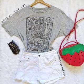 515 || Mossimo Palm Shirt