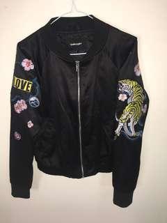 Valley girl satin black jacket