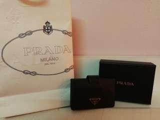 100% Authentic Prada Card Holder Wallet
