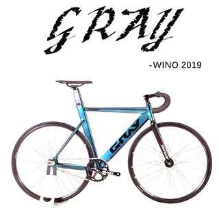 GRAY Wino 2019 track/fixed gear bike, higher specfication with aero design, chameleon design, more color options.