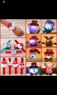 Christmas promo !! Christmas handwrist w lights brand new ideal for Christmas door gift .. min order 10pcs require