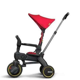 DOONA LIKI TRIKE 4 IN 1 FLAME RED/GREY