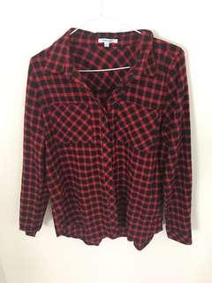 Valley girl plaid button up