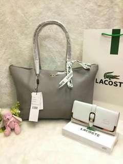 Lacoste bag and wallet