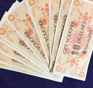 $4500 of Takashimaya Vouchers selling at $4100