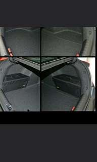 Kia K3 side boot compartment and Visor