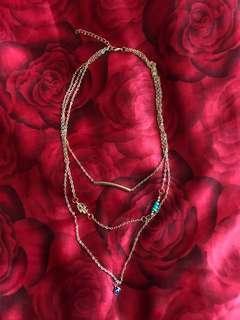 REPRICED!! Brand new Tibetan hamsa evil eye layered necklace