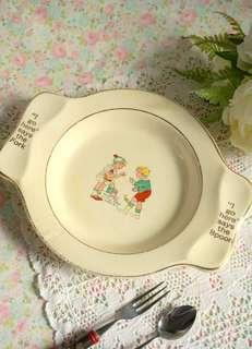 古董童趣學習餐盤