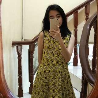 Preppy Yellow Dress