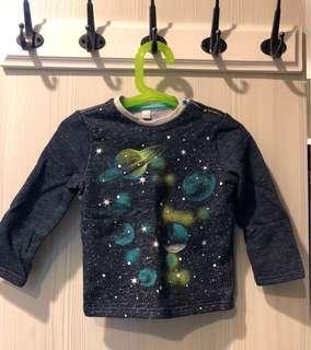 🚚 <家有雙胞胎>Esprit內刷毛星球圖案童裝