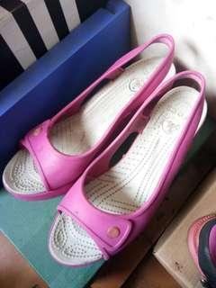 Crocs Wedges - Pink Fushia