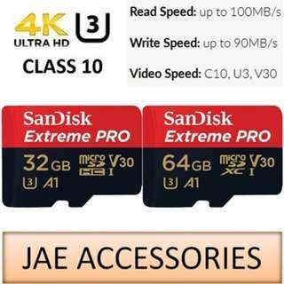 For Gopro Sandisk Extreme Pro A1 32GB-64GB microSD Card