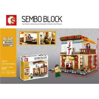 Sembo 601024 Small City Creator Japanese Mee Shop Building Block set