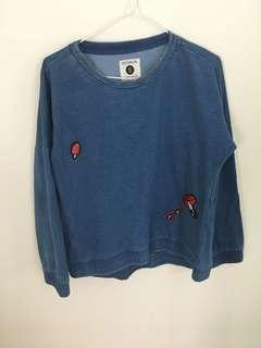 Cotton on denim sweatshirt