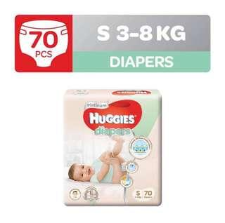 Huggies Platinum Tape Diapers in S size
