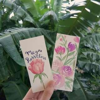 Personalized Hand-painted Watercolor Bookmarks!
