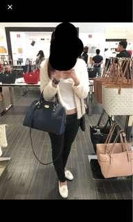 (Authentic) Michael Kors Navy Satchel Bag
