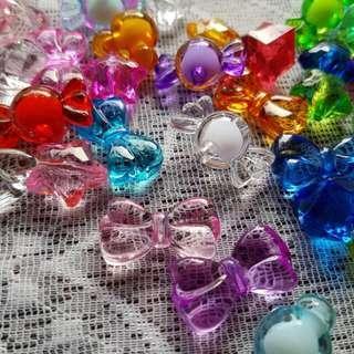 膠水晶 仿水晶 寶石擺設 冒險樂園 膠珠仔 魚缸 花樽 水晶膠粒