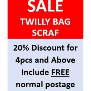 Twilly Bag handle Scarf/ Handle protector/ HairBand/ MultiPurpose Scarf
