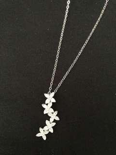 Xmas gift special!!!🎄🎁sterling silver CZ Russian diamonds necklace😍