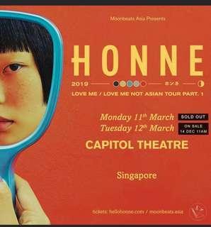 HTB Honne singapore concert