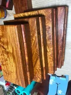 黄梨木盒4件套