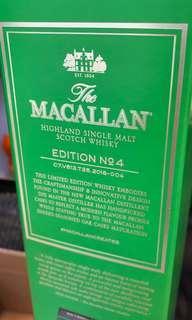麥卡倫 Macallan Edition No.04 scotch whisky 限量版 麥芽威士忌
