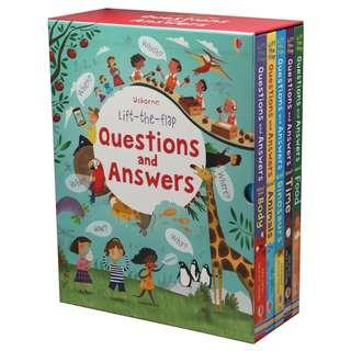 Lift-the-flap Questions and Answers 5 Books Box Set by Usborne