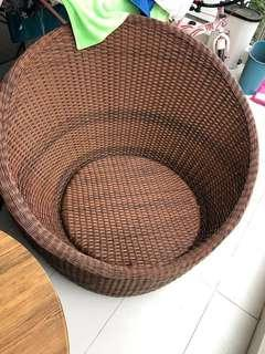 3 big outdoor wicker sofa chairs selling for cheap..