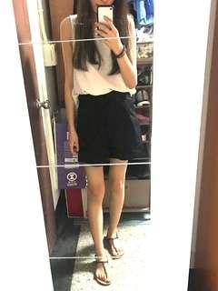 🚚 Meierq西裝材質黑短褲