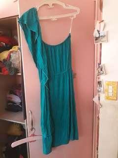 Teal color dress