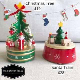 INSTOCK Christmas Handmade Wooden Musical Box Gift